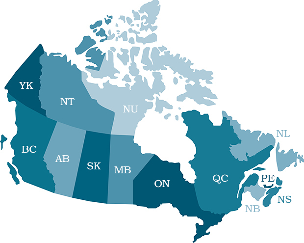CIFPs Building A Strong Profession Today For Tomorrow - Canada map of